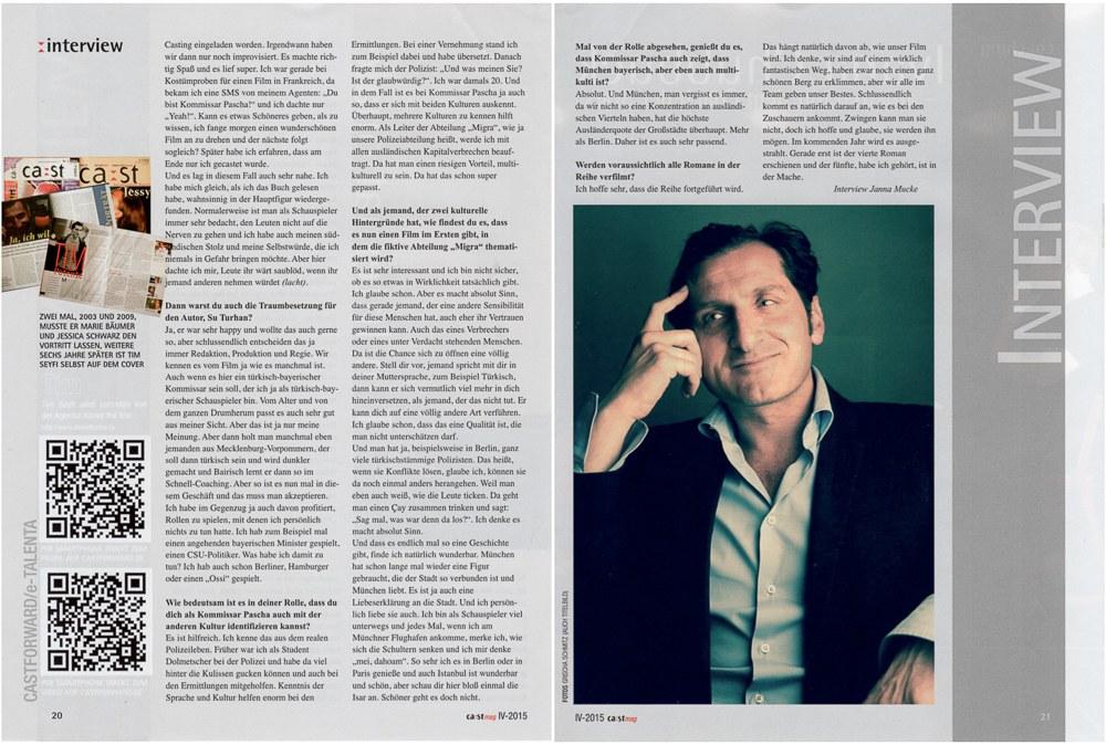 """Magazin """"castmag"""" - Schauspielerportraits"""