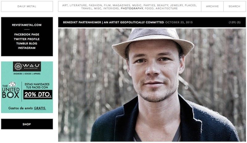 """Webseite """"DAILY METAL"""" - Künstlerportrait"""